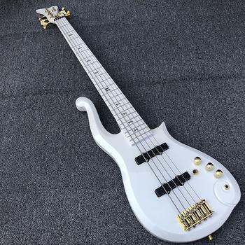 Wysokiej jakości książę chmura elektryczna gitara basowa gitara biały 5 gitara basowa gitara darmowa wysyłka tanie i dobre opinie Human (乐器) Maple MAHOGANY Strona główna-schooling Profesjonalna wydajność Beginner Unisex Brazylia drewna Pasywny zamknięte typu