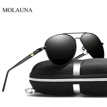 лучшая цена Vintage Polarized Sunglasses Men 2019 Retro Classic Pilot Sun Glasses Man Brand Designer Driving Glasses Oculos De Sol UV400
