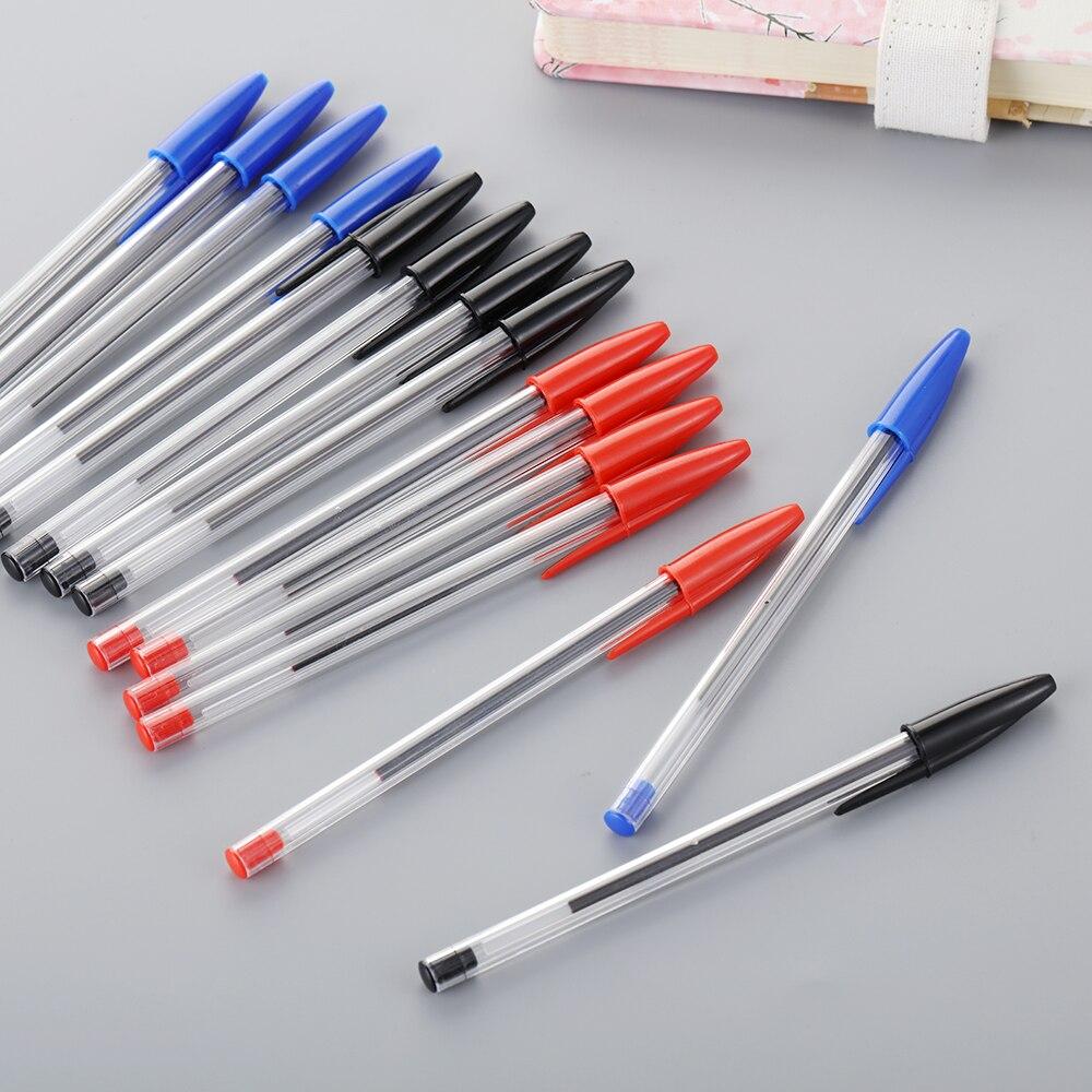 5 шт., 3 цвета, шариковая ручка, 1 мм, многоцветные, долговечные, пластиковые, прозрачные шариковые ручки, детские школьные, офисные принадлежн...