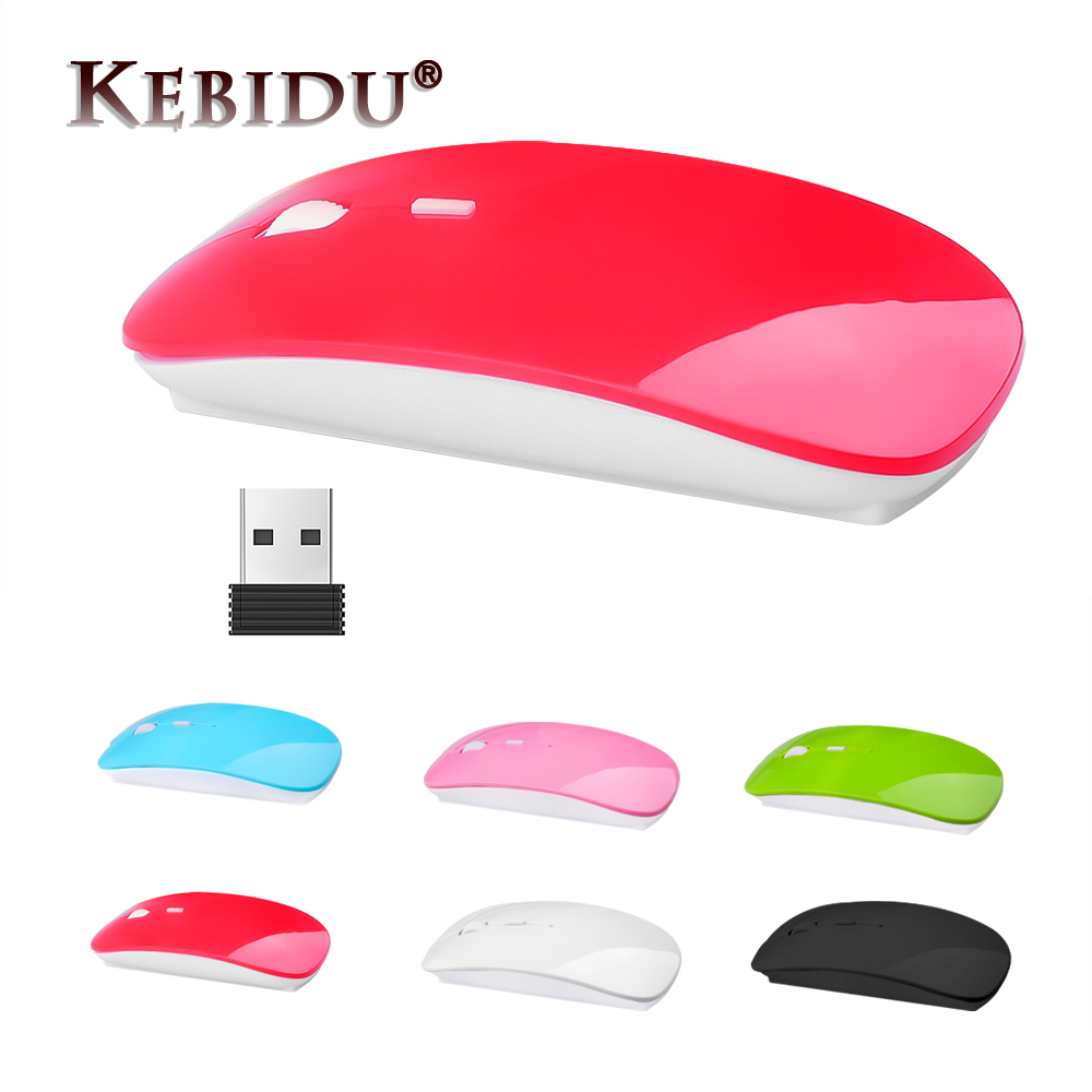 Wireless Mouse 2.4G Receiver Optical Mouse Slim Mouse for PC Laptop Notebook PC Desktop Computer for MacBook Pink