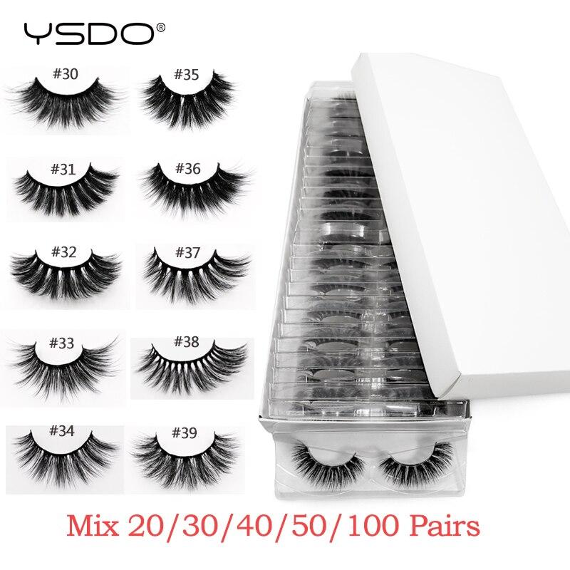 Wholesale mink eyelashes 20/30/40/50/100 pairs 3d mink lashes eyelash extension natural false eyelashes makeup fake lashes bulk