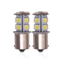 2 шт., автомобисветодиодный светодиодные лампы P21W Ba15s 1156 Bay15d 1157 12 В
