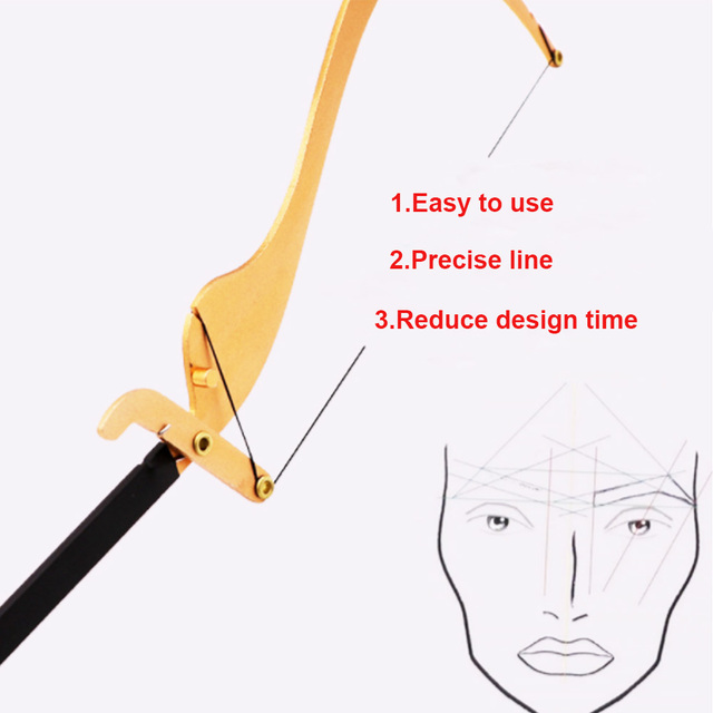 50pcs Semi-Permanent Location Line for Bow Arrow Rulers Thread Cut Strings for Eyebrow Mapper MIcroblading Measuring Tool String 2