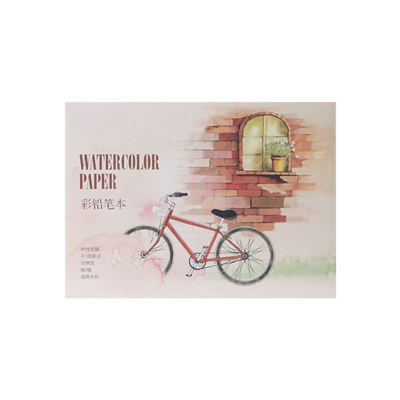 12Sheet A5/A6 Watercolor Sketchbook Paper for Drawing Painting Color Pencil Book H05A