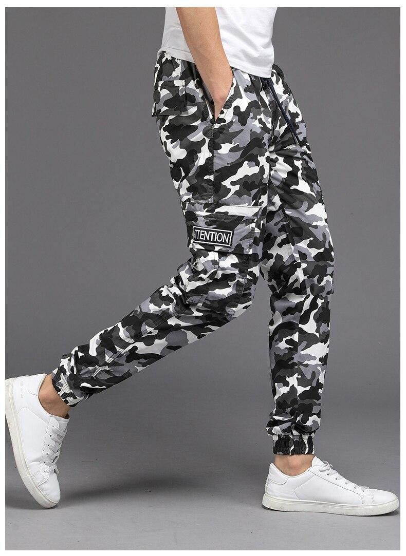 KSTUN Cargo Pants Men Camouflage Harem Joggers Men's Causal Hip Hop Trousers Drawstring Sweatpants Male Large Size Pants Good Quality 22