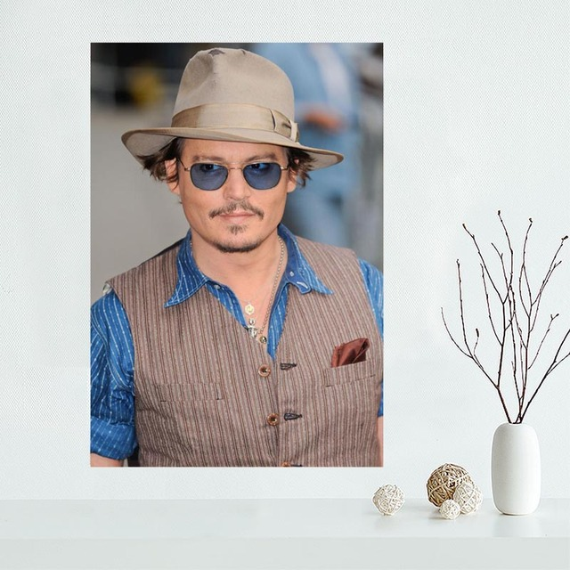 New Products Johnny Depp Wall Art Canvas  6
