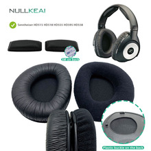 NULLKEAI Replacement Parts for Sennheiser RS160 RS170 RS180 HDR160 HDR170 Earpads Bumper Headband Earmuff