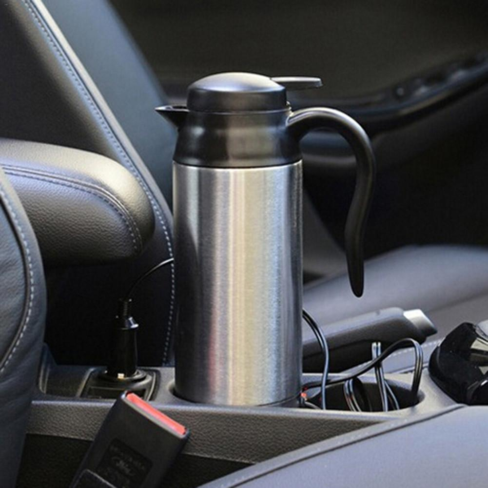 12V 24V Electric Heating Thermos Kettle 750ml Car Truck Camping Tea Coffee Insulation Pot Stainless Steel Hot Water Bottle Mug