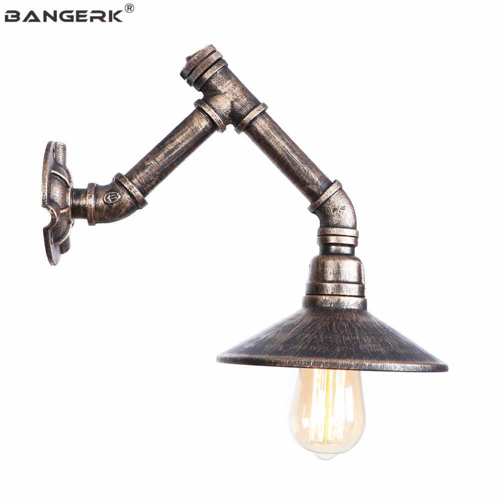 Лофт Декор светодиодный настенный светильник Железный античный водопровод настенный светильник винтажный Промышленный Эдисон Настенный бра для коридора прикроватный Домашний Светильник