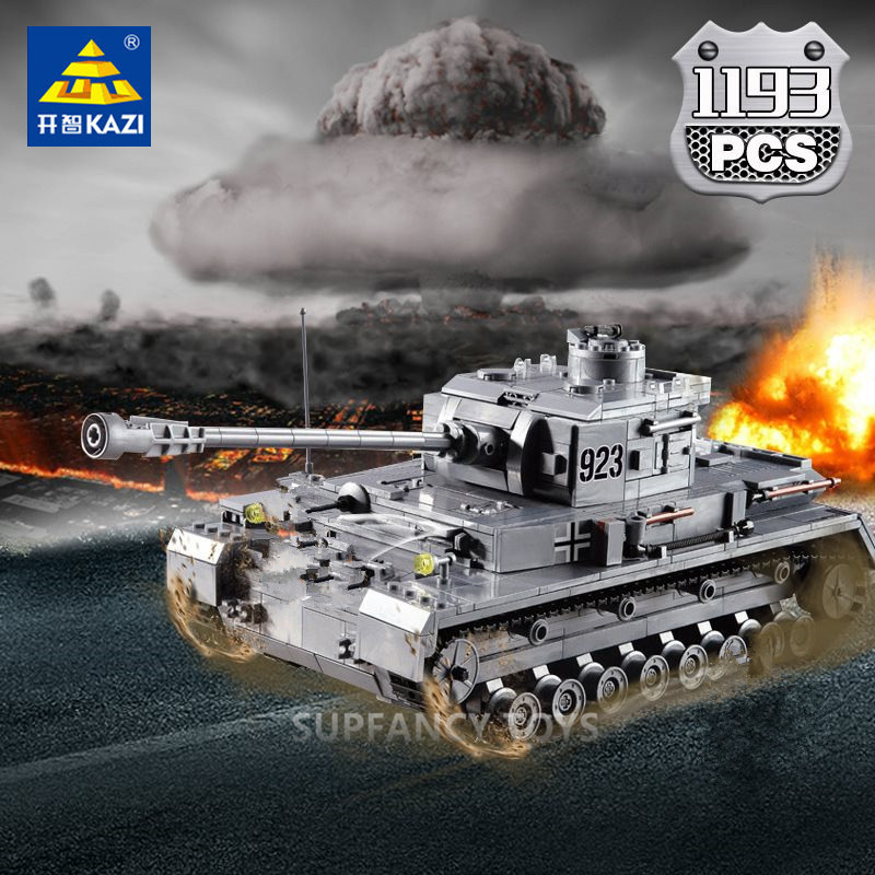 995pcs Lego Military Tank Building Blocks Toy WW2 Soldier Bricks For Children