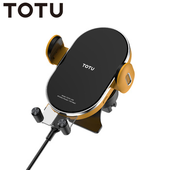 TOTU Car Phone Holder Stand with Wireless Charger for iPhone 11 Pro X XS 8 Samsung Huawei Mate 30 Pro Redmi Phone Holder in Car