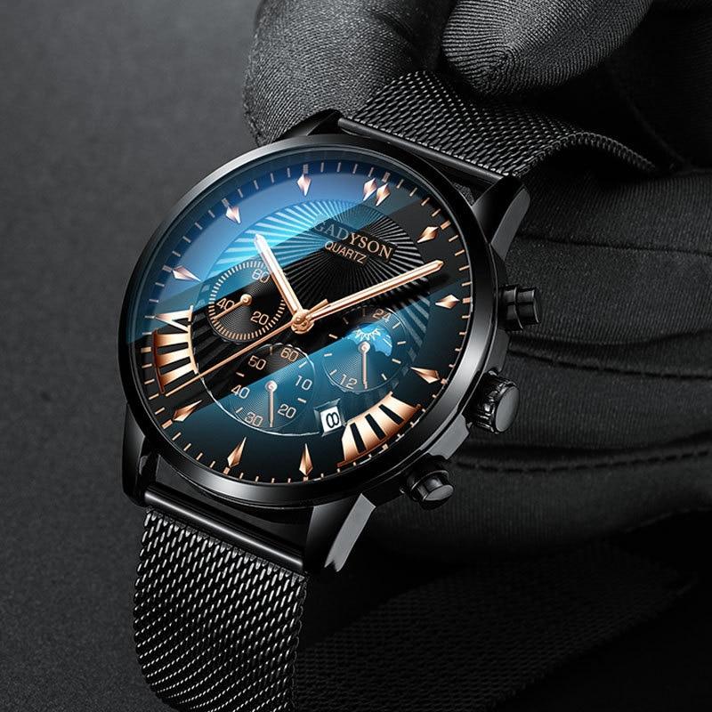 2020 Men Watches Famous Luxury Brand Male Clock Steel Man Watch Men Business Classic Quartz Wrist Watch For Men's Wristwatches