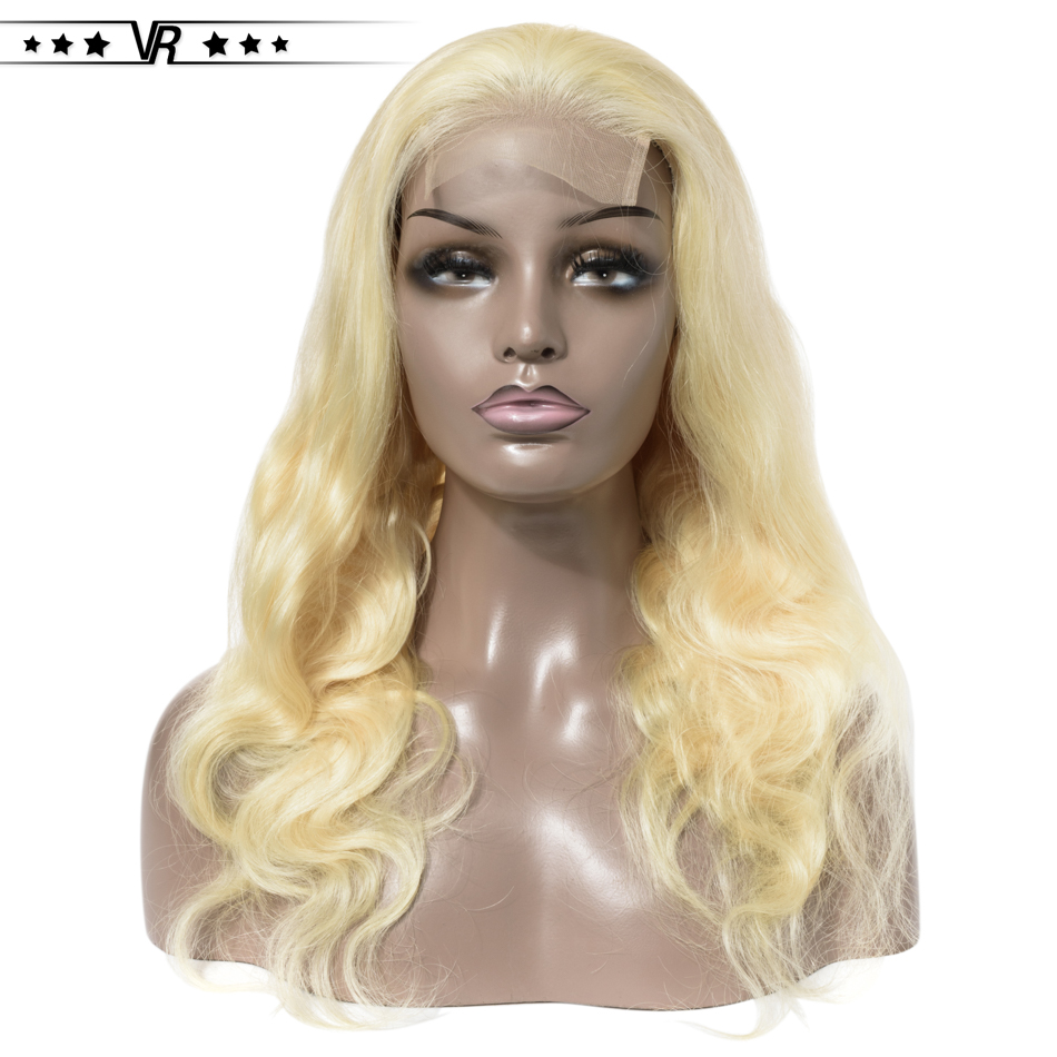VR Star Quality Brazilian Blonde Lace Closure Human Hair Wig  4x4 Size 613 Lace Closure Wig For Black Women
