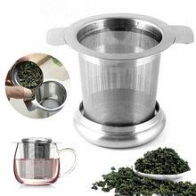 Новейший сетчатый ситечко для заварки чая из нержавеющей стали с металлической чашкой фильтр с крышкой удобный кувшин фильтр для воды картриджи
