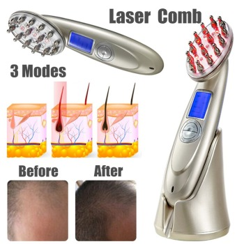 4 IN 1 Laser Anti Hair Loss Comb Hair Grow Brush Growth Treatment RF EMS LED Photon Massage Laser Hair Growth Therapy massage laser comb kit power grow laser cure loss therapy laser hair regrow comb massager comb brush drop shipping