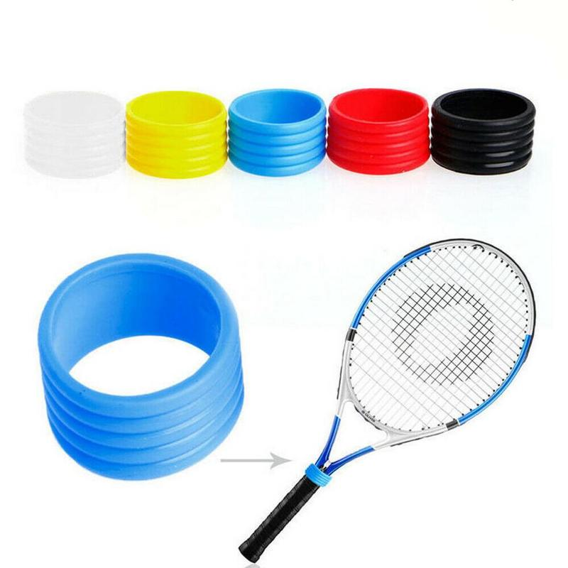 5 Pcs Badminton Racket Rubber Ring Racket Handle Silicone Ring Tennis Racket Fixed Ring Sweat Band Handle Leather Special