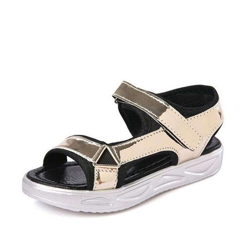New Summer Children Sandals For Girls Boys Beach Sandals Slippers Baby Open Toe Sandals Kids Student Leather Home Casual Shoes