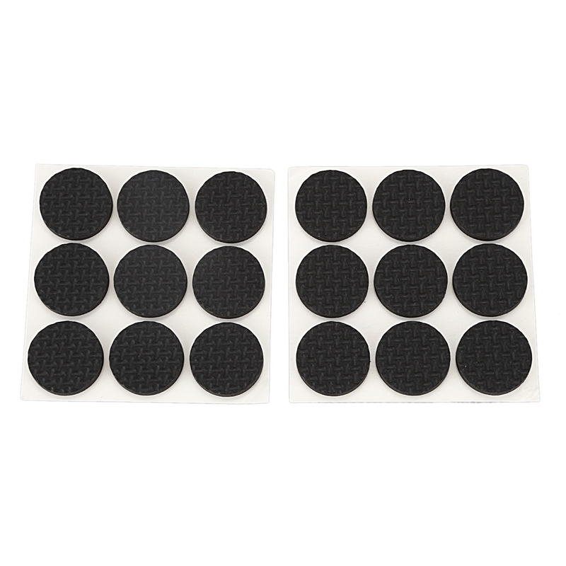 New 18 Pcs Self Adhesive Black Foam Table Chair Leg Pad Protector