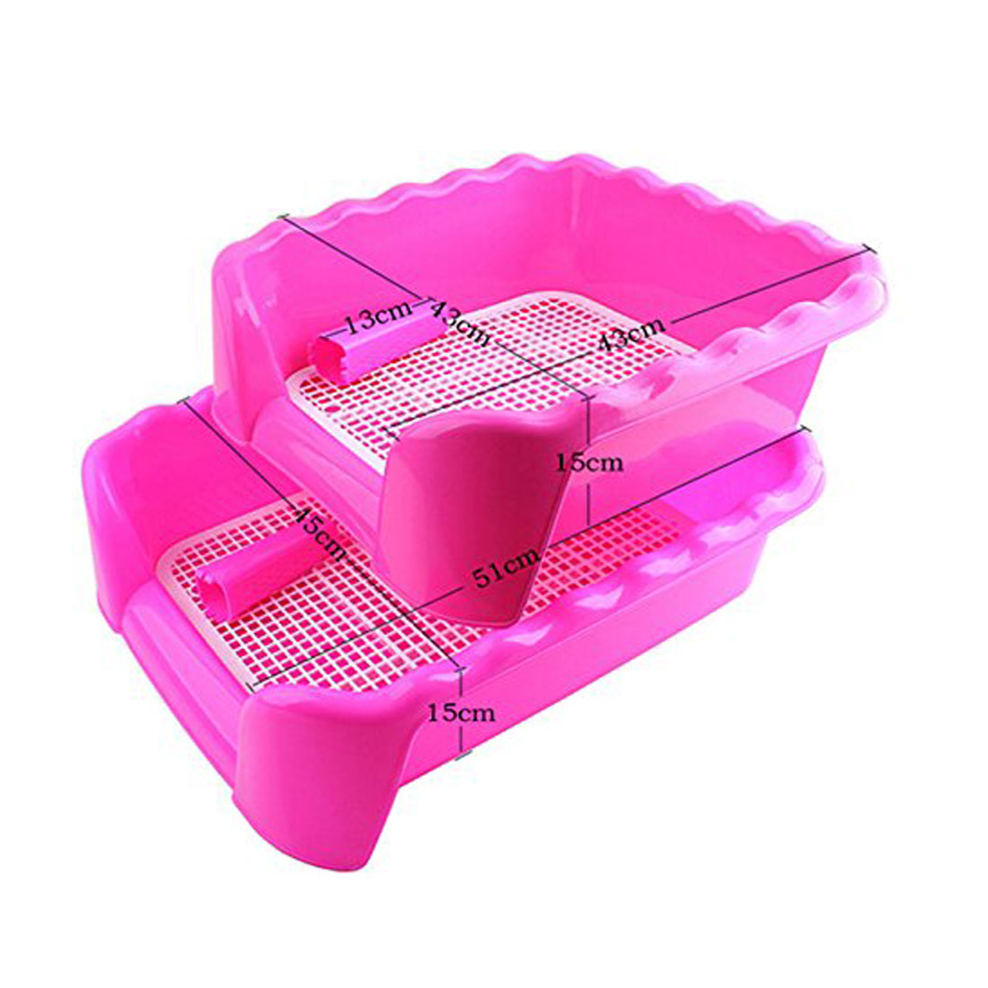 Portable Puppy Training Tray with Fence for Pet Dogs and Cats Potty and Pee Training Indoor 9