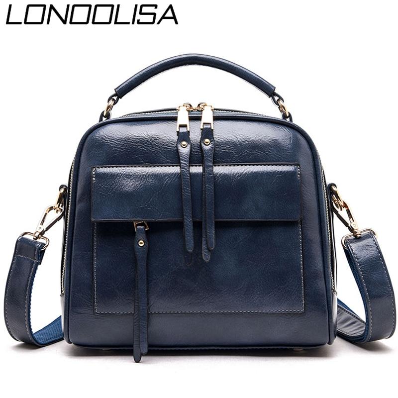 Hot Large Crossbody Bags For Women 2019 Genuine Leather Luxury Handbags Women Bags Designer Ladies Shoulder Hand Bags Bolsa Sac