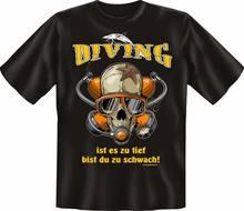 T-shirt Plongeur amusant, Haut Cadeau DAnniversaire Cornee Imprime