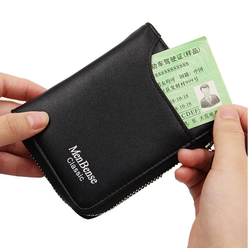 Mini man Wallet Zipper Women Short Card Holder Wallet Coin Money Bag Rfid Small Women wallets and purses 2020