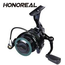 цена на HONOREAL 9+1BB Fishing Reels Metal Spool 6.3:1 Spinning Reel 2000H-5000H 15KG Carbon Fiber Drag Power Carp Fishing Tackles
