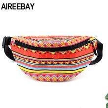 Bag Fanny-Pack Waist-Belt Hip-Chest-Bag AIREEBAY African-Printing Women Travel Girls