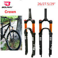 "MTB Bike Fork Suspension 26/27.5/29"" Disc Brake 100mm Travel QR Bicycle Air Forks Straight/Tapered Steerer Fork Mountain bike"