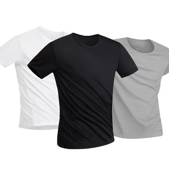 Men T Shirt Anti-Dirty Waterproof Solid Color Men T Shirt O Neck Short Sleeve Quick Dry Top For Male