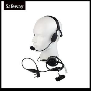 Image 1 - Auriculares tácticos militares de conducción ósea con micrófono de brazo Para Kenwood Baofeng UV 5R Wouxun, Radio bidireccional