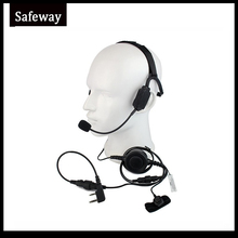 Military Bone Conduction Tactical Headphone Headset With Boom Mic  For Kenwood Baofeng UV 5R Wouxun Two Way Radio