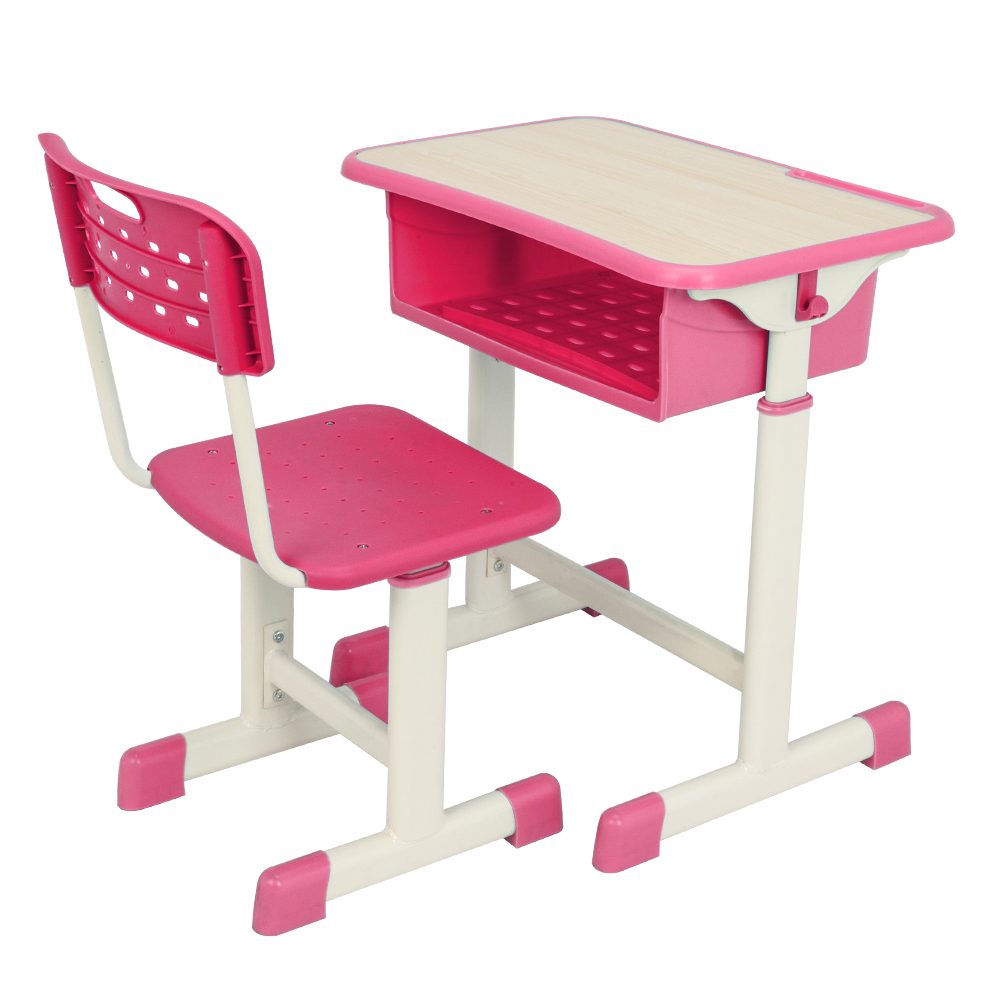 Adjustable Student Desk And Chair Kit High-quality MDF Children Desk With Separate Pen Slot And Hook For 3-14 Years Old Kid's