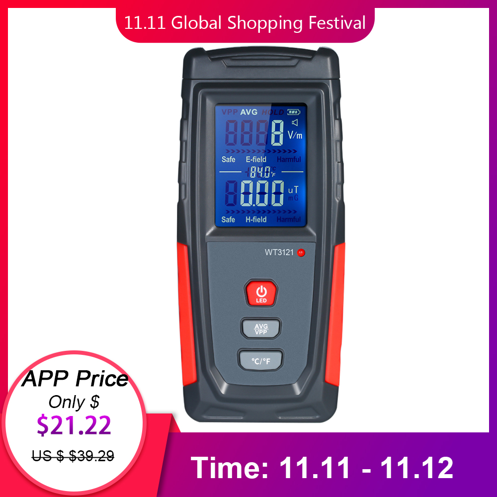 Radiation Dosimeter With Two Uses Electric Field And Magnetic Field Radiation Tester Electromagnetic Geiger Counters EMF Meter