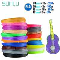 SUNLU 3D Printing Pen Filament Refills1.75mm PLA Children Drawing Gadget Children DIY Gift 100m/200m Consumable 10 Or 20 Rolls