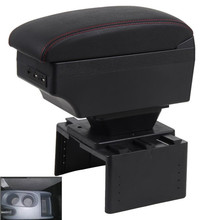 Dla Seat Leon Mk2 podłokietnik ze schowkiem podłokietnik ze schowkiem centralny pojemnik do przechowywania sklepu tanie tanio HuangZM CN (pochodzenie) For Seat Leon Mk2 armrest box 15cm 43cm ABS+Leather Podłokietniki car armrest box