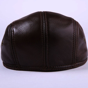 Image 3 - 2020 חדש לגמרי גברים של אמיתי עור אמיתי כובע בייסבול כובע מותג newsboy/כומתה כובע חורף חם כובעי כובעי עור פרה כובע