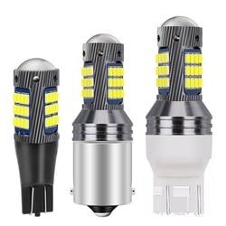 1PC 1156 BA15s P21W 1157 BAY15D P21/5W T20 7440 W21W 7443 W21/5W T15 W16W LED Bulb Car Brake Lamp Turn Signal Auto Reverse Light