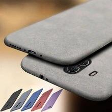 Luksusowe Ultra Slim matowy etui na telefony dla Huawei P40 P20 P30Pro Lite piaskowiec miękki futerał dla Mate 20 30 Lite Y5 Y6 Y7 Y8 Prime 2020
