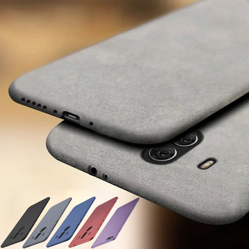 Luxury Ultra Slim Matte Scrub Phone Case For Huawei P40 P20 P30Pro Lite Sandstone Pattern Soft Cover For Huawei Mate 20 30 Lite(China)