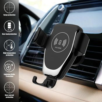 Automatic Gravity Qi Wireless Car Charger Mount For IPhone 11 XS XR X 8 10W Fast Charging Phone Holder for Samsung S10 S9 4