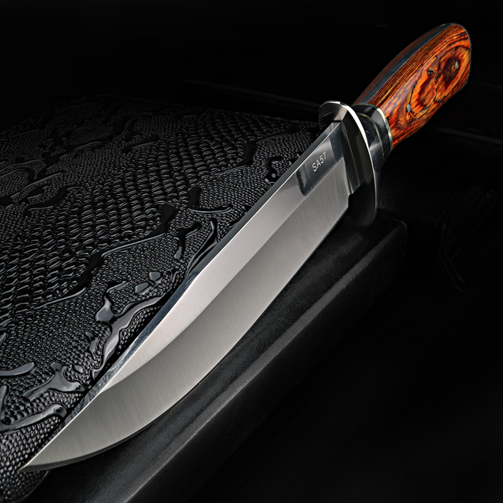 XUAN FENG Self Defense Straight Knife Field Survival Sabre Outdoor Knife Self-defense Hunting Knife Portable Retired