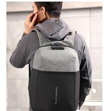 Противоугонный рюкзак наружный мужской 15,6-дюймовый компьютерный рюкзак строчка деловой Рюкзак Дорожная Сумка