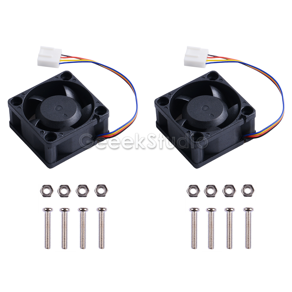 New 2PCS PWM Speed Adjustment 4PIN Dual Ball Bearing Dedicated Super Cooling Fan Strong Cooling Air For NVIDIA Jetson Nano