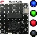 Новый 3D 8S 8x8x8 мини Mp3 музыка свет набор Cubeeds Встроенный аудио спектр пульт дистанционного управления модель Led Электронный Набор Diy