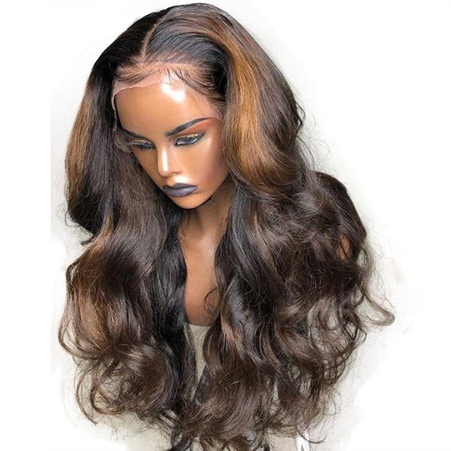 Бразильский Волосы remy Выделите волнистые 13X6 Синтетические волосы на кружеве парики с детскими волосами 150% Плотность средняя соотношение С...