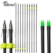 6/12pcs Archery Fiberglass Fishing Arrow 31.5inch Bowfishing Arrows Replaceable Hunting Fish Arrowhead For Shooting Accessories