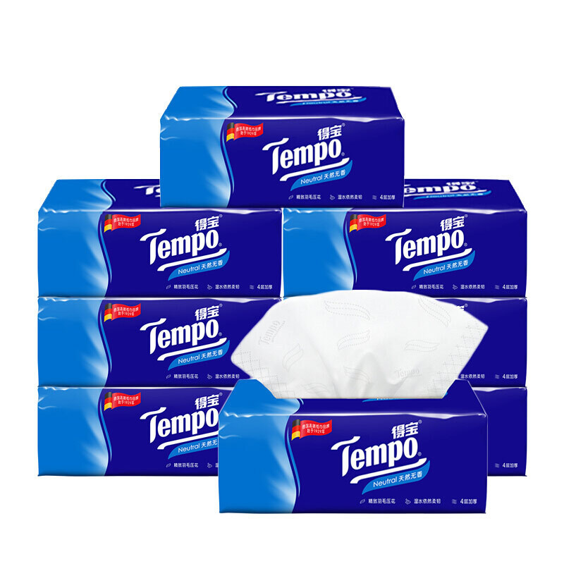 Tempo Unscented Napkin Bag 4-Layer Thick Napkin A Generation Of Fat Depot Tissue Duplo Paper Extraction