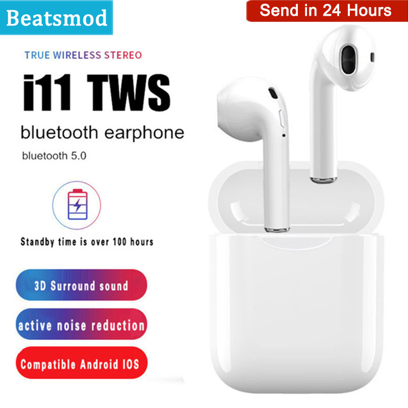 <font><b>i11</b></font> <font><b>tws</b></font> Wireless Earphone <font><b>Bluetooth</b></font> <font><b>5.0</b></font> Stereo 3D Headphone i7s i9s <font><b>TWS</b></font> Mini Earbuds Headset For iPhone Samsung Xiaomi Huawei LG image