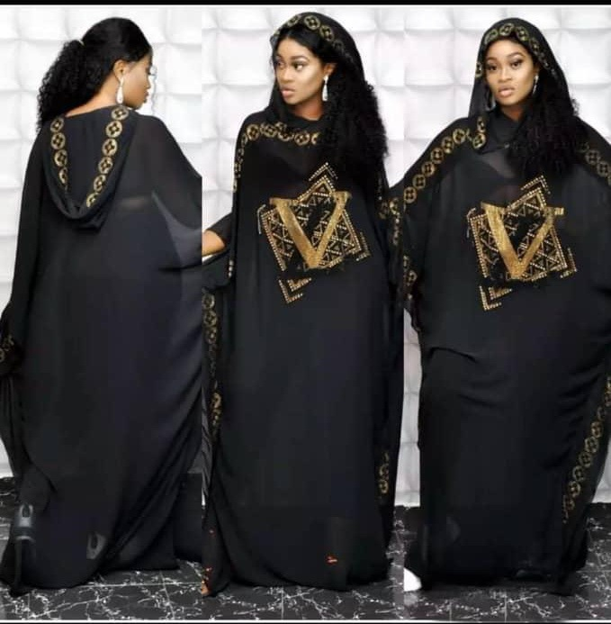 African Design Beading Abaya Chiffon Dashiki Dress Bat Hoodies Cape Muslim Bazin Long Maxi Robe Gowns Africa Dashiki Traditional